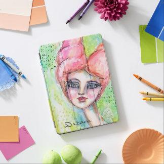 Protection iPad Pro Portrait rêveur féerique coloré d'aquarelle
