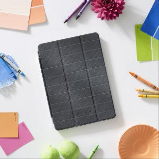 Protection iPad Pro Texture métallique de fibre gris-foncé de carbone