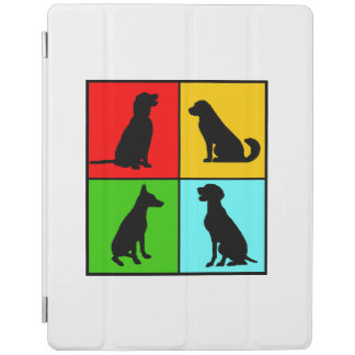 Protection iPad quatre chiens