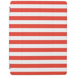 Protection iPad Rayures rouges horizontales