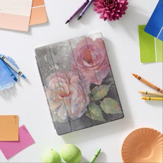 Protection iPad Roses sur le gris