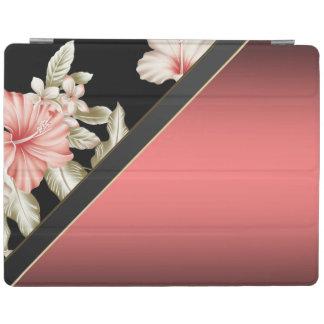 Protection iPad Rouge élégant élégant, floral