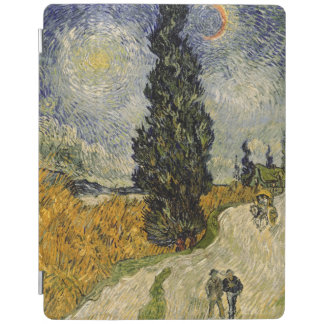 Protection iPad Route de Vincent van Gogh | avec des cyprès, 1890