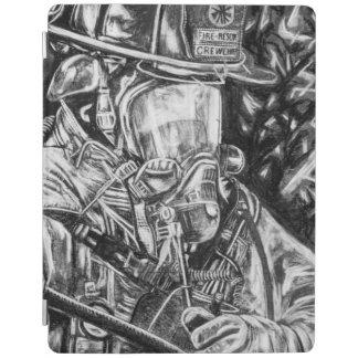 Protection iPad Sapeur-pompier - courage - dessin de fusain