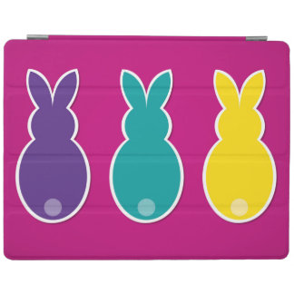 Protection iPad Silhouette lumineuse de lapin de Pâques