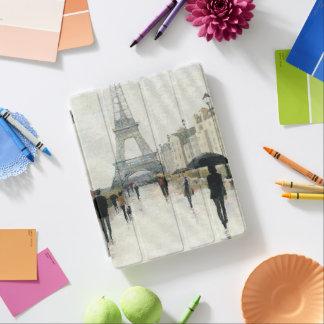 Protection iPad Tour Eiffel | Paris sous la pluie