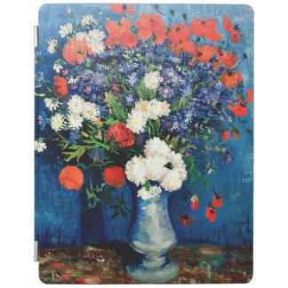 Protection iPad Van Gogh - vase avec des bleuets et des pavots