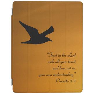Protection iPad Vers jaune de bible de foi d'oiseau de ciel de