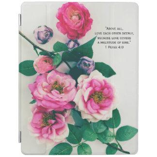 Protection iPad Vers rose sauvage rose de bible d'amour de bouquet