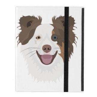 Protection iPad Visage heureux border collie de chiens