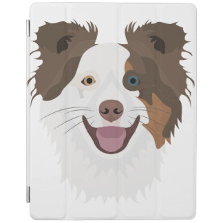 Protection iPad Visage heureux border collie de chiens