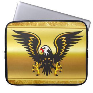 Protection Pour Ordinateur Portable Aigle de noir et d'or de présentation horizontale
