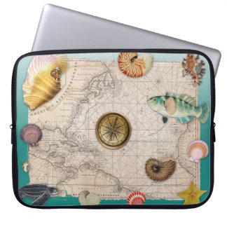 Protection Pour Ordinateur Portable Aigue-marine marine de collage
