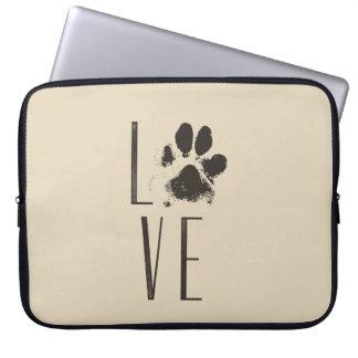 Protection Pour Ordinateur Portable Amour avec la typographie de grunge de Brown