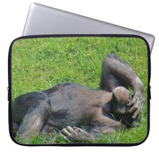 Protection Pour Ordinateur Portable Animal drôle de chimpanzé