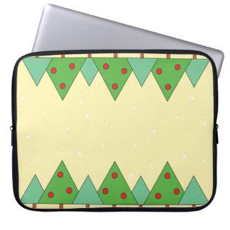 Protection Pour Ordinateur Portable Arbres de Noël animated simples
