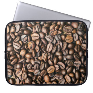 Protection Pour Ordinateur Portable Arrière - plan de grain de café de Brown