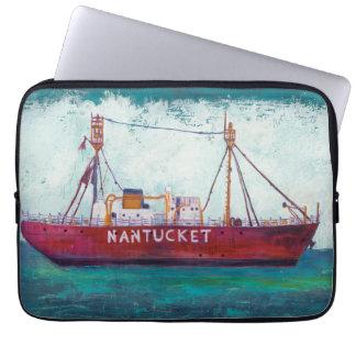 Protection Pour Ordinateur Portable Bateau-phare côtier de l'art | Nantucket