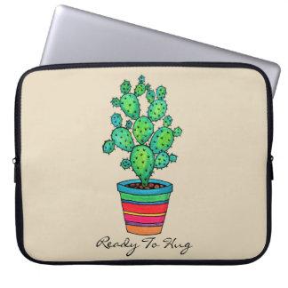 Protection Pour Ordinateur Portable Cactus magnifique d'aquarelle dans le beau pot