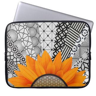 Protection Pour Ordinateur Portable Caisse orange d'ordinateur portable de fleur