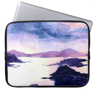 Protection Pour Ordinateur Portable Caisse pour aquarelle écossaise pourpre