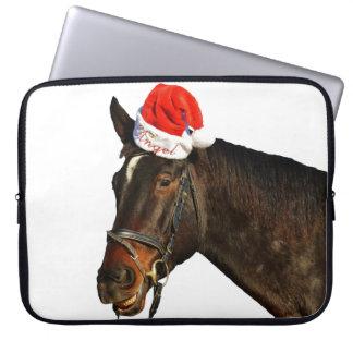 Protection Pour Ordinateur Portable Cheval père Noël - cheval de Noël - Joyeux Noël