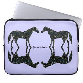 Protection Pour Ordinateur Portable Chevaux de bleu de réflexions