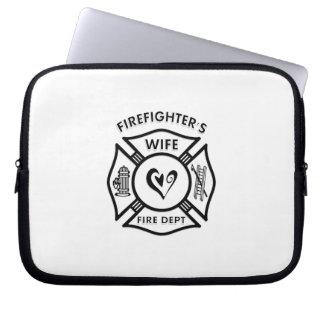 Protection Pour Ordinateur Portable Coeur maltais d'épouse de sapeurs-pompiers