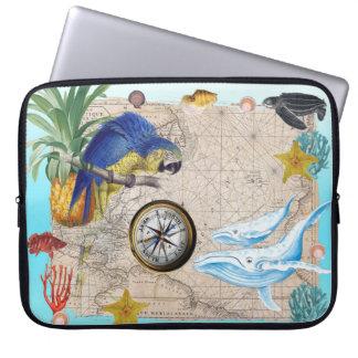 Protection Pour Ordinateur Portable Collage bleu tropical