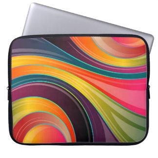 Protection Pour Ordinateur Portable Conception colorée d'arc-en-ciel en spirale