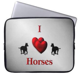 Protection Pour Ordinateur Portable Conception de chevaux de coeur du cool I