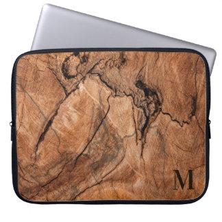 Protection Pour Ordinateur Portable Conception en bois de sembler naturel