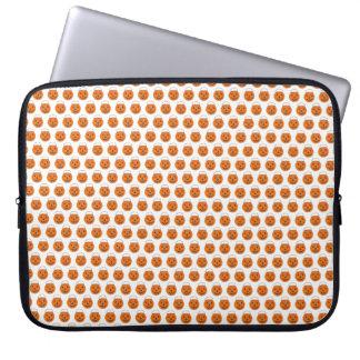 Protection Pour Ordinateur Portable Copie blanche orange de citrouille de Halloween de