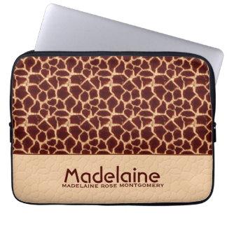 Protection Pour Ordinateur Portable Copie de girafe dans Brown riche et tonalités