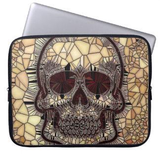 Protection Pour Ordinateur Portable Crâne en verre de mosaïque, beige