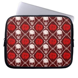 Protection Pour Ordinateur Portable crâne et roses