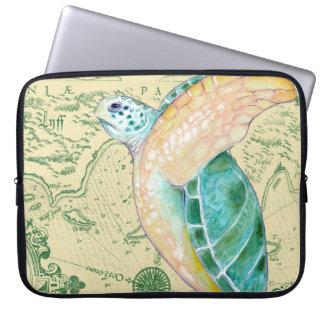 Protection Pour Ordinateur Portable Cru bronzage de carte de tortue de mer