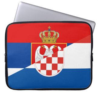Protection Pour Ordinateur Portable de symbole de pays de drapeau de la Serbie Croatie