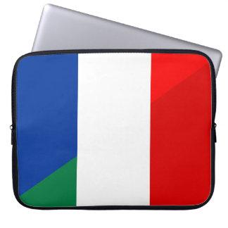 Protection Pour Ordinateur Portable de symbole de pays de drapeau de l'Italie France