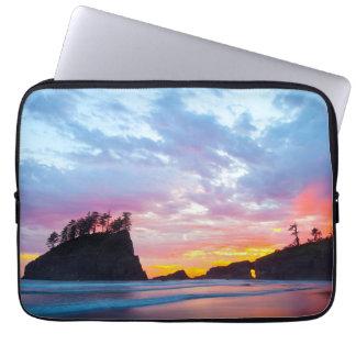 Protection Pour Ordinateur Portable Deuxième plage au coucher du soleil, Washington