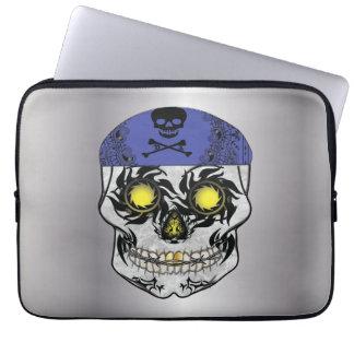 Protection Pour Ordinateur Portable Douille argentée d'ordinateur portable de crâne de