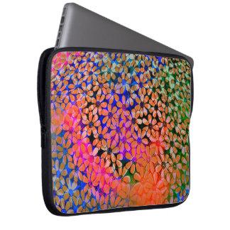 Protection Pour Ordinateur Portable Douille colorée d'ordinateur portable de fleurs