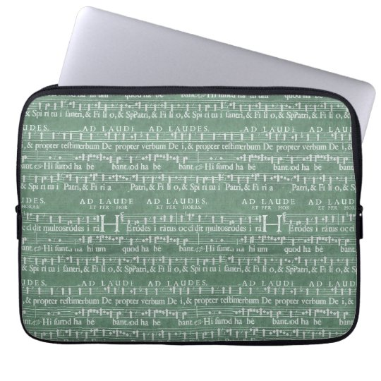 """Protection Pour Ordinateur Portable Douille médiévale 13"""" du néoprène de manuscrit de"""