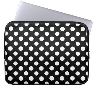 Protection Pour Ordinateur Portable Douille noire et blanche d'ordinateur portable de