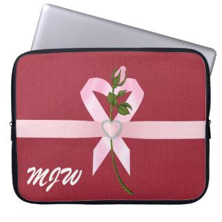 Protection Pour Ordinateur Portable Douille rose de ruban - SRF