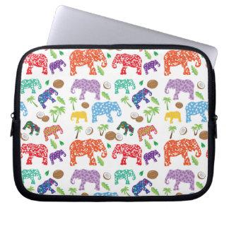 Protection Pour Ordinateur Portable Éléphants tropicaux