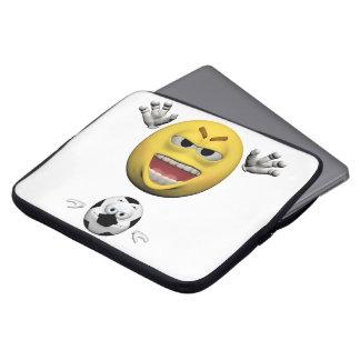 Protection Pour Ordinateur Portable Émoticône jaune ou smiley du football