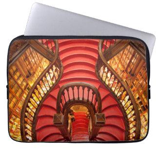 Protection Pour Ordinateur Portable Escalier rouge fleuri, Portugal
