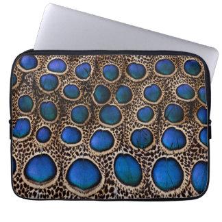 Protection Pour Ordinateur Portable Faisan de paon repéré par bleu