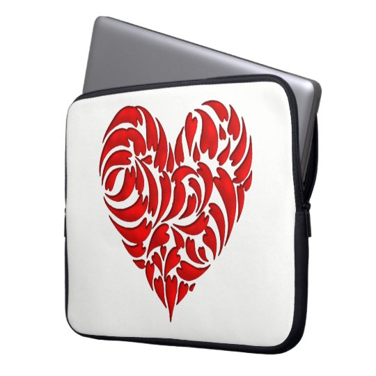 Protection Pour Ordinateur Portable Feuilles en coeur